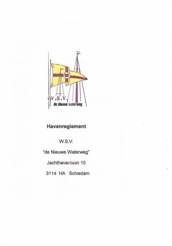 Haven Reglement WSV De Nieuwe Waterweg