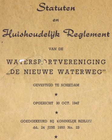 Statuten 1948 WSV De Nieuwe Waterweg